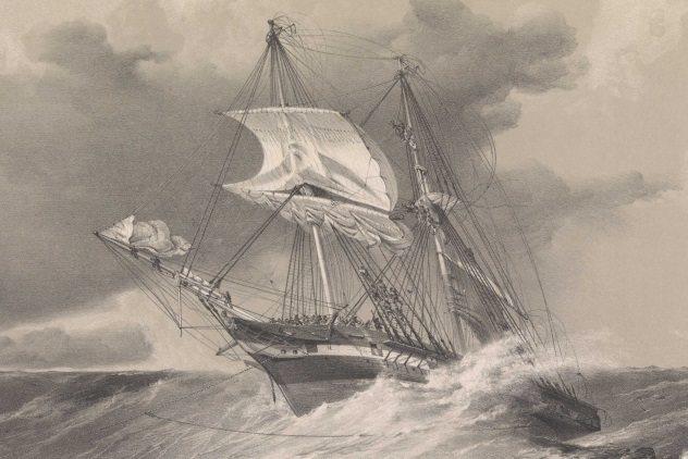 """Dutton T G """"The saving of H.M.S. Sappho off the coast of Honduras"""" (Public Domain)"""