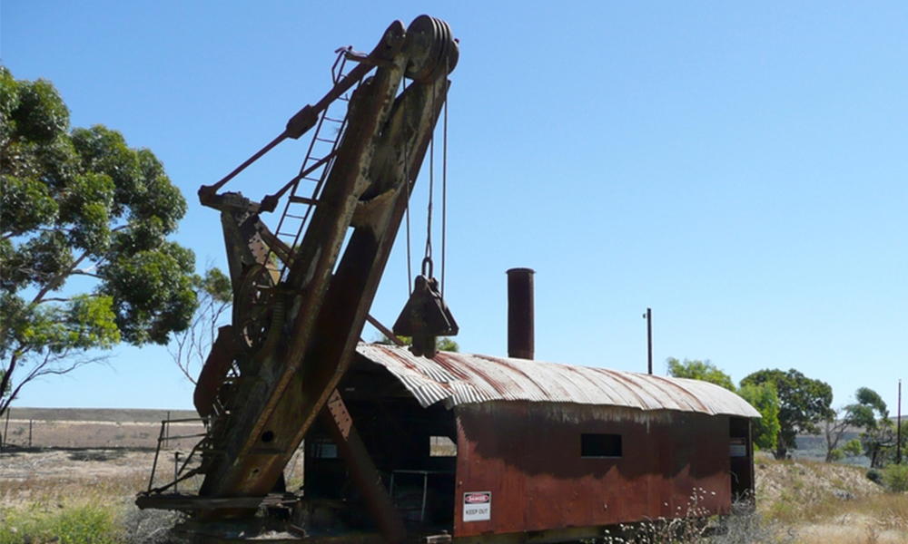 Bucyrus railroad steam shovel