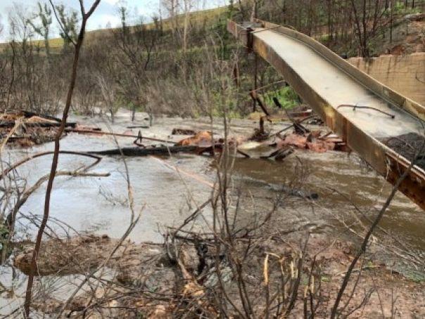 Murrindal Bridge after the bushfires